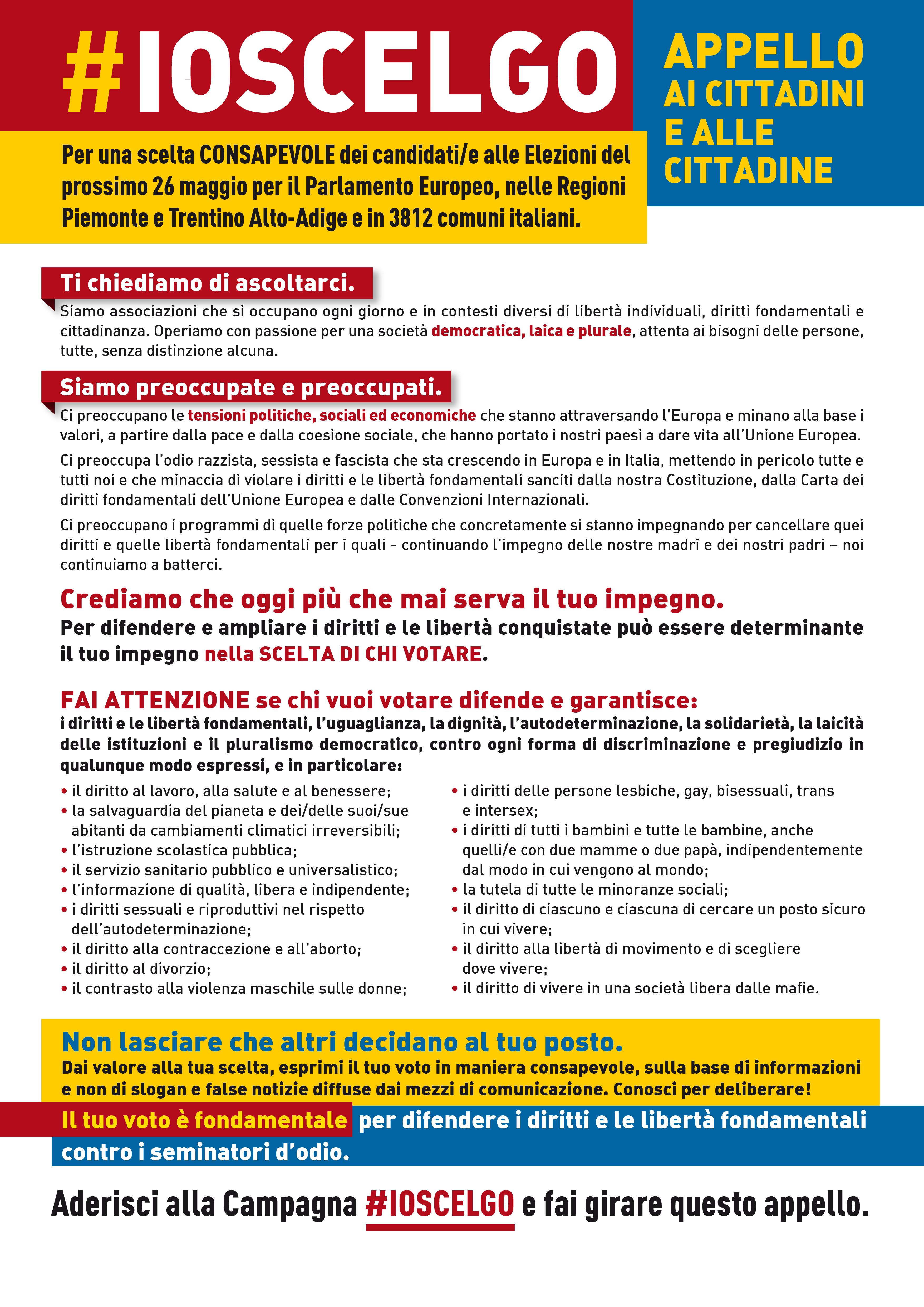 manifesto elezioni associazioni new