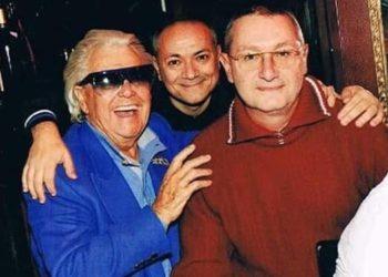 Giovanni Caloggero (a destra) e Dario De Felice (al centro) con Michou