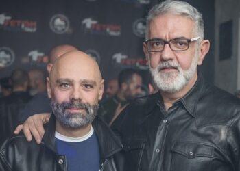 Claudio (a destra) col marito Massimiliano