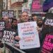 Manifestazione organizzata da All Out a Londra nel 2018